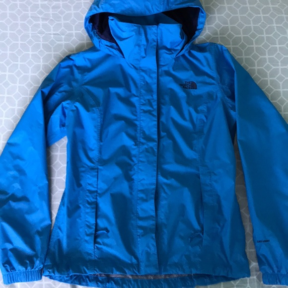 46101b3e8d Women s blue north face raincoat. M 5a4957ed9a94558b6001f659. Other Jackets    Coats ...